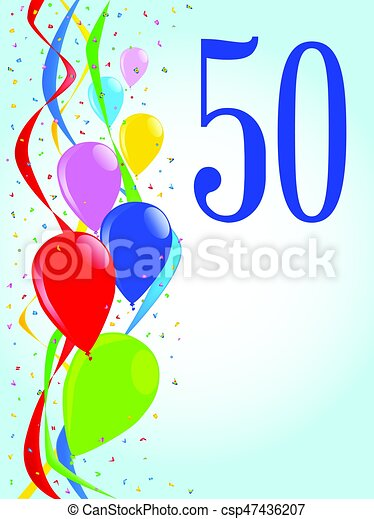 50 balloons and confetti party multi coloured balloons vector rh canstockphoto com party vector background parity vector
