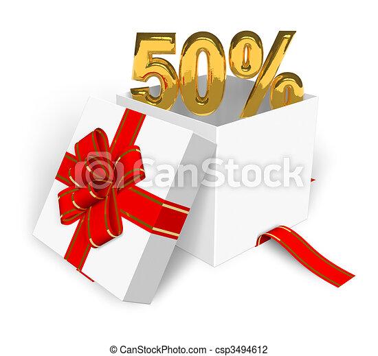 50% discount concept - csp3494612