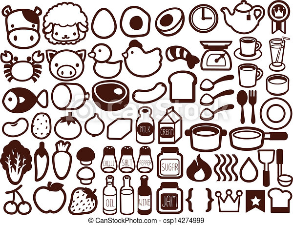 50  Food and Drink Icon  - csp14274999