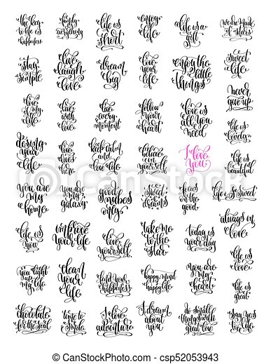 50 Hand Lettering Love And Life Positive Quotes Motivational And