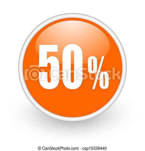 50 percent icon - csp15339440