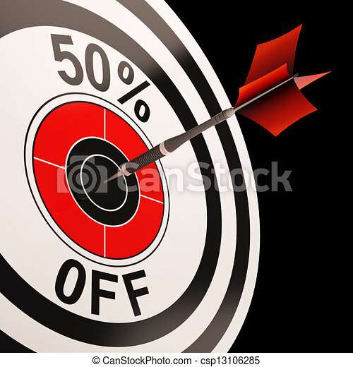 50 Percent Off Shows Percentage Reduction On Price - csp13106285