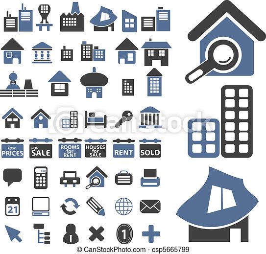 50 real estate signs - csp5665799