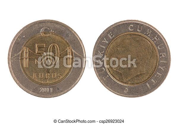 50 turkish kurus coin - csp26923024