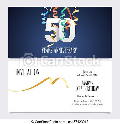 50 Años Por Invitación Al Aniversario Una Invitación De 50