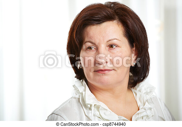 50 year old business woman - csp8744940