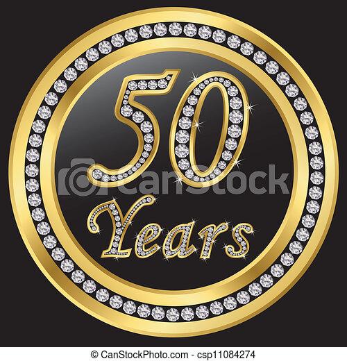 50 years anniversary, happy birthda - csp11084274