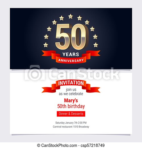 50 years anniversary invitation vector 50 years anniversary 50 years anniversary invitation vector stopboris Image collections