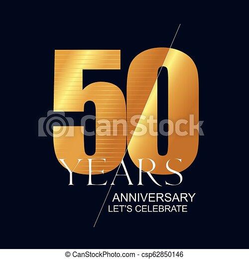 50 Years Anniversary Vector Icon Symbol Logo Graphic Design Element