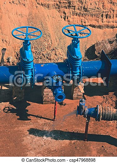 500 mm drink water Gate valve joint with screwed pipe fitting - repairing  of main water pipeline