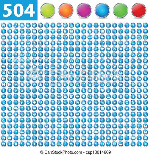 504, brillante, iconos - csp13014609