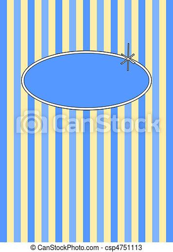 50's Retro Blueberries & Cream Candy Stripes - csp4751113