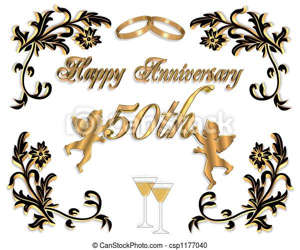 50th anelli scheda matrimonio anniversario for Disegno 3d free