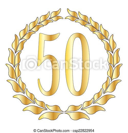 a 50th anniversary symbol over a white background clipart vector rh canstockphoto com 50th anniversary black and white clipart 50th wedding anniversary invitation clipart