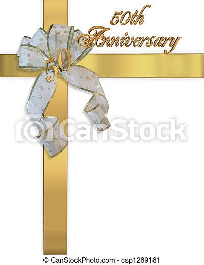 50th Anniversary Golden Invitation - csp1289181