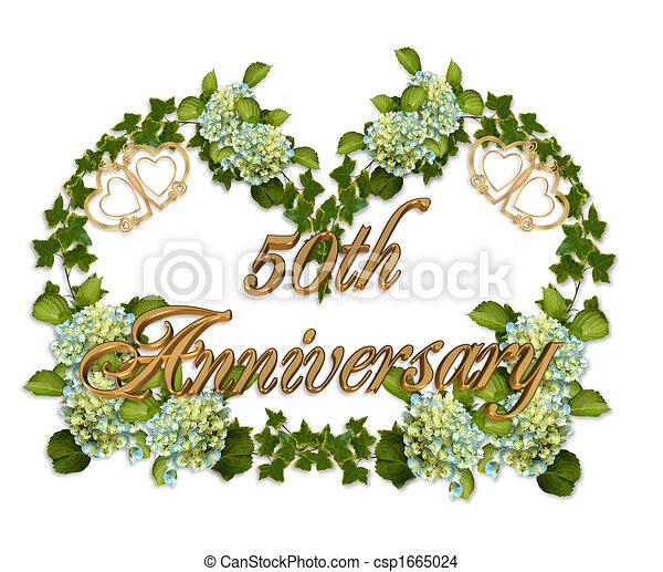 50th Anniversary Ivy And Hydrangea