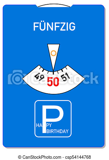 50th Birthday Card Birthday Card For 50th Birthday With The German
