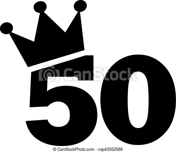 50th Birthday Number Crown Clip Art Vector Search
