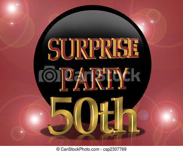 50th Birthday Surprise Party Invitation Card For