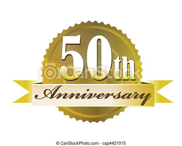 50th, cachet, anniversaire - csp4421015