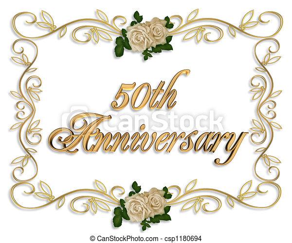 50th, roses, anniversaire - csp1180694