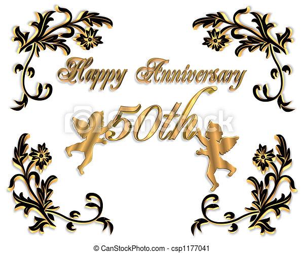 Happy wedding anniversary 3d card