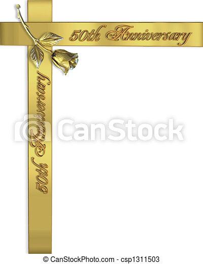 50th wedding anniversary invitation image and illustration 50th wedding anniversary invitation csp1311503 stopboris Gallery