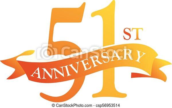Anniversario Di Matrimonio 51 Anni.51 Year Ribbon Anniversary