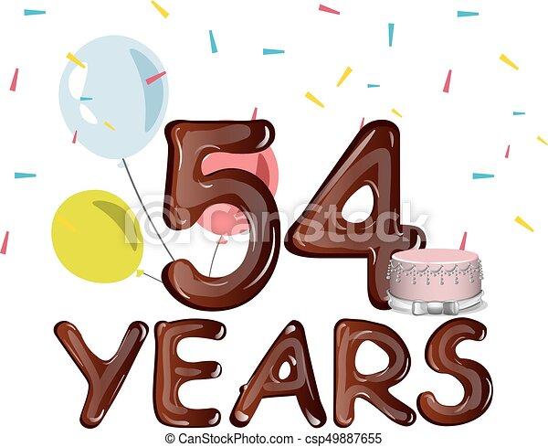 54 years anniversary invitation card vector illustration clipart 54 years anniversary invitation card csp49887655 stopboris Image collections