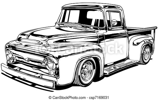 56 Vintage Custom Pickup 7169031 on jacked up chevy 4x4