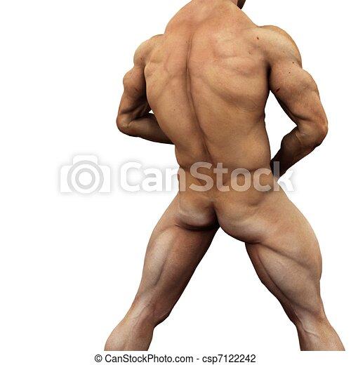 Naken manliga modell bilder