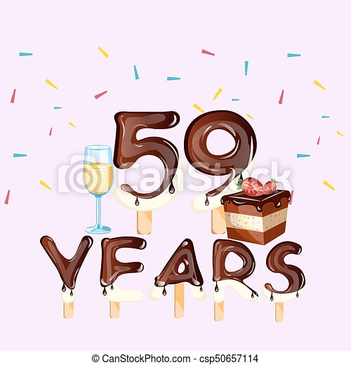 59th Years Happy Birthday Card