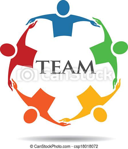 6, チーム, グループ, 抱き合う, 人々 - csp18018072