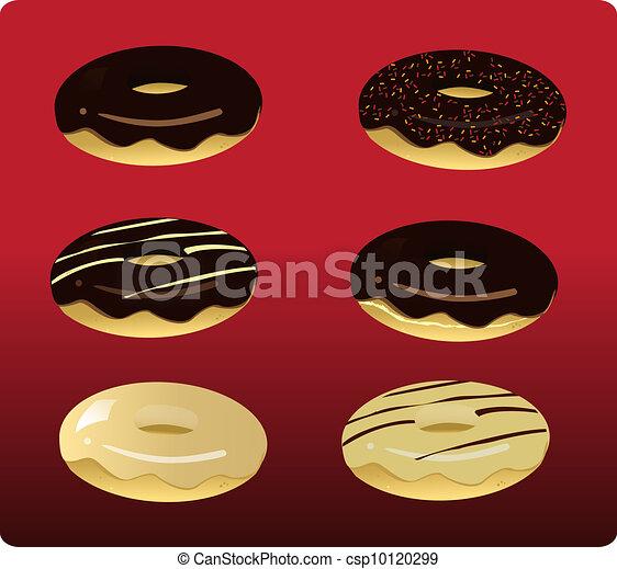 6 Assorted Doughnuts_stock - csp10120299