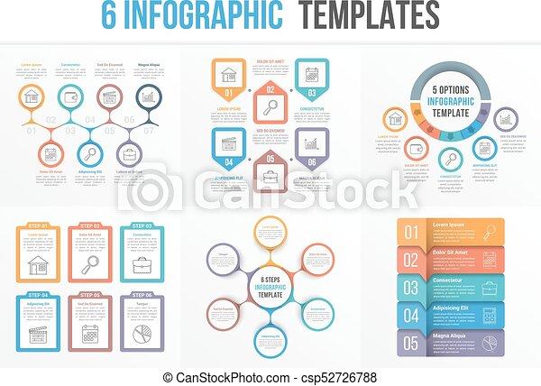 6 infographic templates 6 infographic templates workflow process