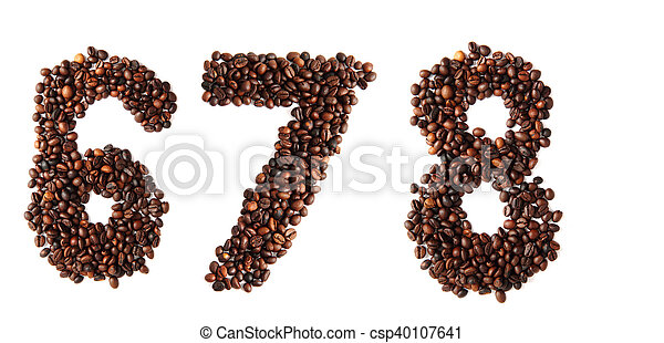 6 - number from coffee beans - csp40107641