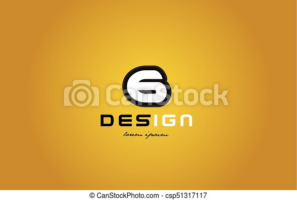 6 number numeral digit white on yellow background - csp51317117