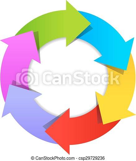 6 part arrow wheel diagram 6 parts arrow wheel diagram vectors 6 part arrow wheel diagram vector ccuart Images