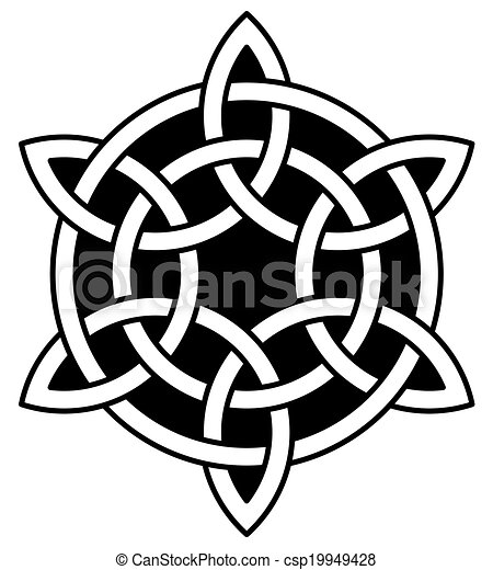 6-point Celtic knot  - csp19949428