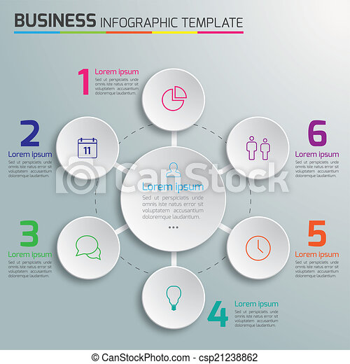process infographic template