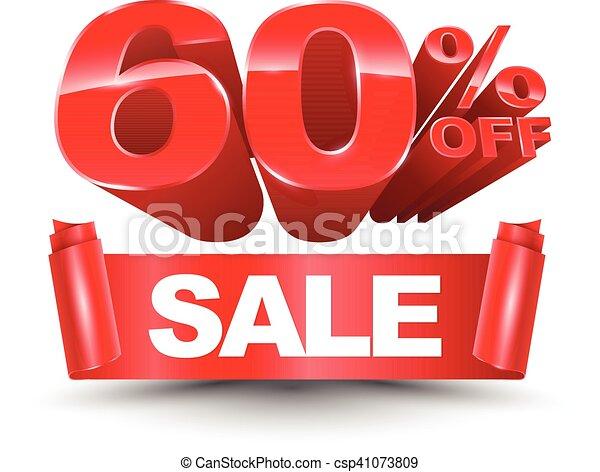 60 percent off sale red - csp41073809