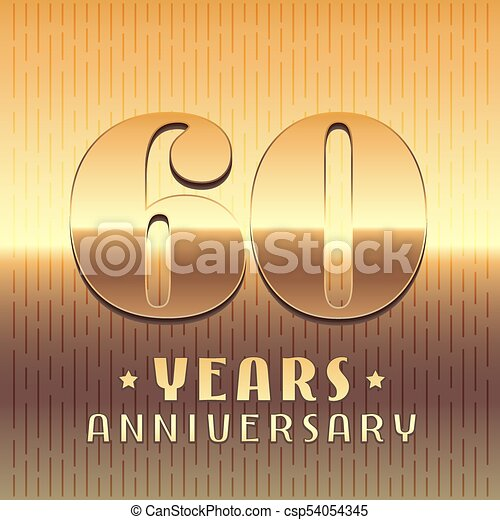 60 Years Anniversary Vector Icon Symbol Graphic Design Element Or