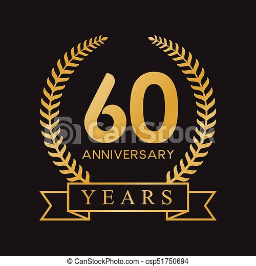 60th Anniversary Vector Clipart Royalty Free 399 60th Anniversary