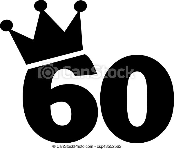 60th birthday number crown rh canstockphoto com 60th birthday clipart 60th birthday clip art male