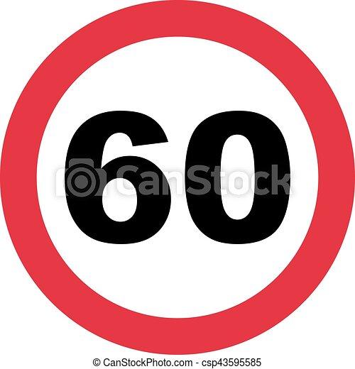 60th birthday traffic sign vector search clip art illustration rh canstockphoto com 60th birthday clip art free images 60th birthday clip art free