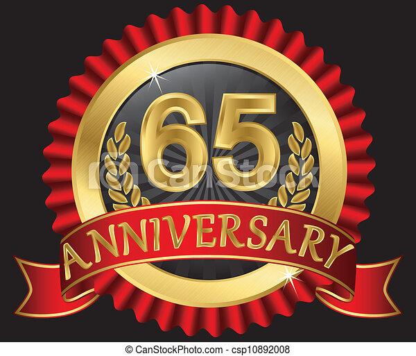 65 years anniversary golden - csp10892008