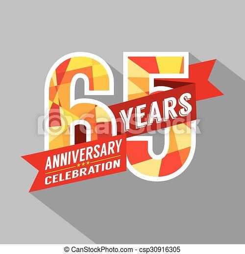 vector 65th years anniversary celebration csp30916305