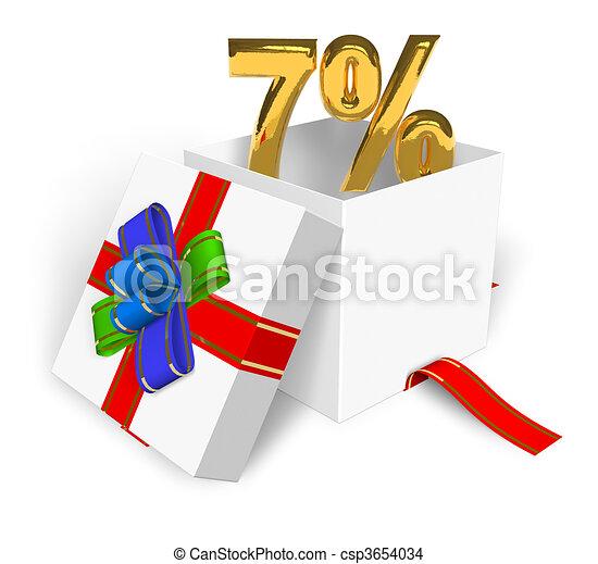 7% discount concept  - csp3654034