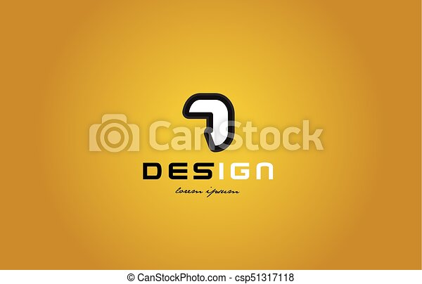 7 number numeral digit white on yellow background - csp51317118