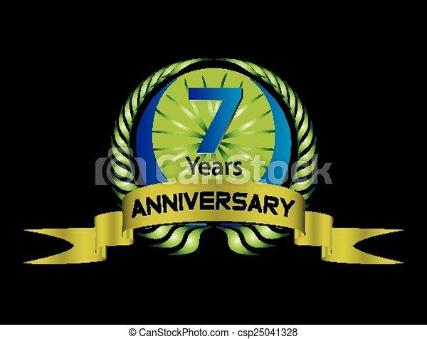 7 Years Celebration Anniversary Label